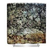 Rocky Abstraction Shower Curtain