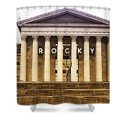 Rocky Balboa On The Art Museum Steps Shower Curtain