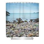 Rocky Beach Shower Curtain by James Billings
