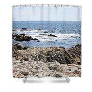 Rocky California Coastline Shower Curtain