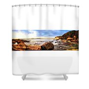 Rocky Cliffs Shower Curtain