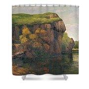 Rocky Cliffs Shower Curtain