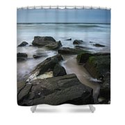 Rocky Coast Of New Jersey Shower Curtain