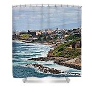 Rocky Coast Of Puerto Rico Shower Curtain