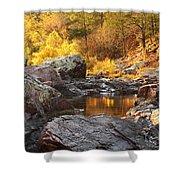 Rocky Creek II On Mill Mountain In The Missouri Ozarks Shower Curtain