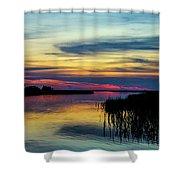 Rocky Creek Sunset Shower Curtain