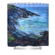Rocky Creek Viewpoint Shower Curtain