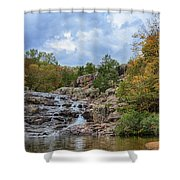 Rocky Falls In The Fall Shower Curtain