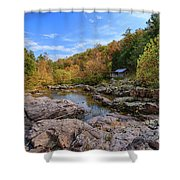 Rocky Falls Near Klepzig Mill Shower Curtain