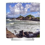 Rocky Island Shower Curtain