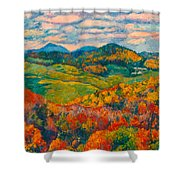 Rocky Knob In Fall Shower Curtain