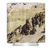 Rocky Landscape - 3 - French Alps Shower Curtain