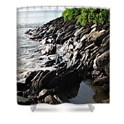 Rocky Maui Coast Shower Curtain