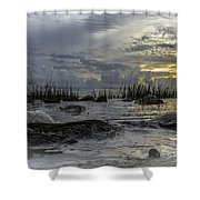Rocky Morning Shower Curtain