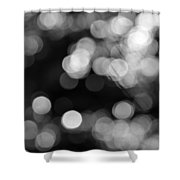 Rocky Mountain Bokeh Shower Curtain