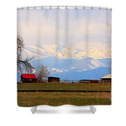 Rocky Mountain Boulder County View Shower Curtain