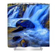 Rocky Mountain Cascade Shower Curtain