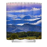Rocky Mountain Cloud Layers Shower Curtain
