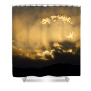 Rocky Mountain Continental Divide Sunset Shower Curtain