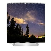 Rocky Mountain Falling Star Shower Curtain