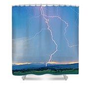 Rocky Mountain Front Range Foothills Lightning Strikes 1 Shower Curtain