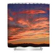 Rocky Mountain Front Range Sunset Shower Curtain