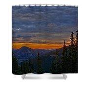 Rocky Mountain High Sunrise Shower Curtain