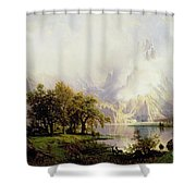 Rocky Mountain Landscape Shower Curtain