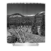 Rocky Mountain National Park Black And White Shower Curtain