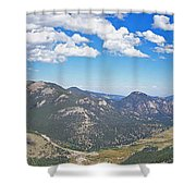 Rocky Mountain National Park Panoramic Shower Curtain