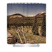 Rocky Mountain National Park Vintage Shower Curtain