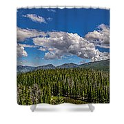 Rocky Mountain Overlook Shower Curtain