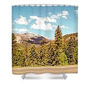 Rocky Mountain Panorama Shower Curtain
