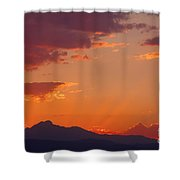Rocky Mountain Religious Sunset Shower Curtain