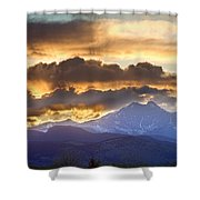 Rocky Mountain Springtime Sunset 3 Shower Curtain