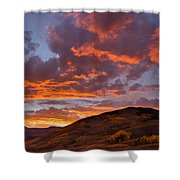 Rocky Mountain Sunset Shower Curtain