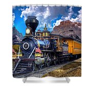 Rocky Mountain Train Shower Curtain