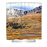Rocky Mountain Tundra And Lake Shower Curtain