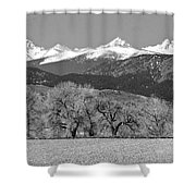 Rocky Mountain View Bw Shower Curtain