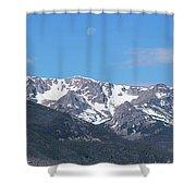 Rocky Mountain Waning Gibbous Moon Set Shower Curtain