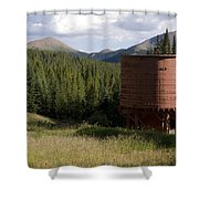 Rocky Mountain Water Tower Shower Curtain