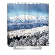 Rocky Mountain Winter Shower Curtain