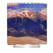 Rocky Mountains And Sand Dunes Shower Curtain