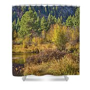 Rocky Mountains Autumn Shower Curtain