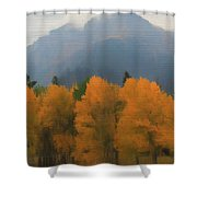 Rocky Mountains Colorado Autumn  Shower Curtain