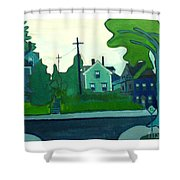Rocky Neck Art Colony East Gloucester Ma Shower Curtain