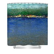 Rocky Point Dream At Bass Lake Shower Curtain