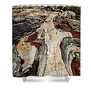 Rocky Pools - Wreck Island Shower Curtain