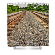Rocky Railroad Rails Shower Curtain