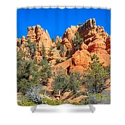 Rocky Range At Red Canyon Shower Curtain